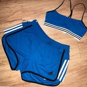 Brand new Adidas short set